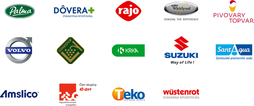 logá klientov